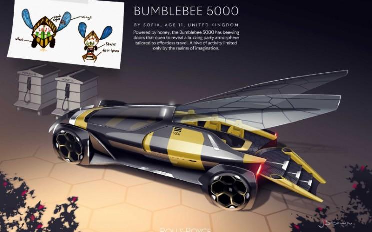 Rolls-Royce Bumblebee 5000, dirancang oleh Sofia yang berusia 11 tahun.  - Rolls Royce