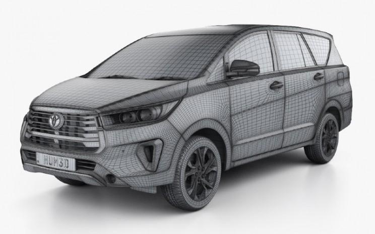 Desain gambar mirip Toyota Innova.  - Hum3D.