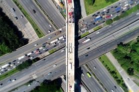 Progres Proyek LRT Jabodebek di Lintasan 2 dan 3 Meningkat