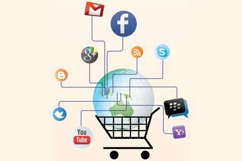 Pebisnis kecil lebih suka toko online. - ilustrasi