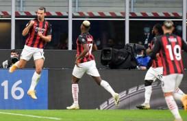 Hasil Liga Italia, Dua Gol Ibrahimovic Antar Milan Pimpin Klasemen