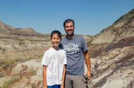 Bocah 12 Tahun Temukan Fosil Dinosaurus Hadrosaurus