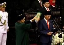 Presiden Joko Widodo saat dilantik menjadi presiden periode 2019-2024 di Gedung Nusantara, kompleks Parlemen, Senayan, Jakarta, Minggu (20/10/2019) - Bisnis/Nurul Hidayat