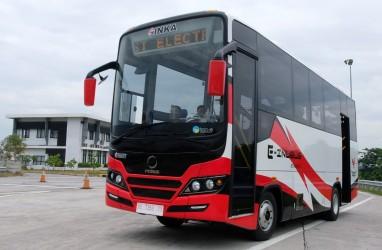 INKA Uji Prototipe Bus Listrik E-Inobus di Jalan Raya
