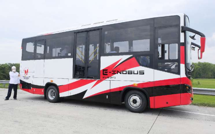 Bus Listrik Inka E-Inobus.  - Inka