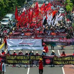 Aksi Gabungan Menolak UU Cipta Kerja Kembali Digelar di Jakarta