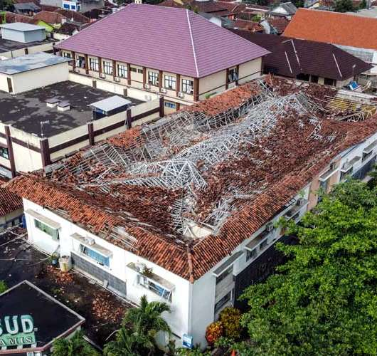 Bangunan IGD RSUD Ciamis Roboh Akibat Hujan Deras