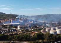 Foto udara pabrik pengolahan nikel milik PT Aneka Tambang Tbk. di Kecamatan Pomalaa, Kolaka, Sulawesi Tenggara, Senin (24/8/2020). ANTARA FOTO/Jojon