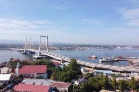 Foto-foto Jembatan Teluk Kendari yang Bakal Diresmikan…