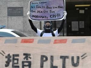 Aktivis Lingkungan Gelar Aksi di Depan Kedubes Jepang Terkait Pembangunan PLTU di Indramayu