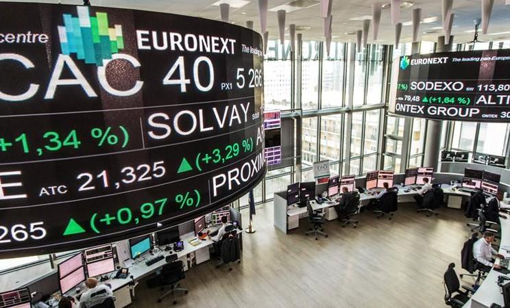 Bursa Efek paris. - Christope Morin / Bloomberg