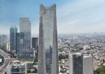 Gedung perkantoran Telkom Landmark Tower di bilangan Gatot Subroto. /tlt.co.id