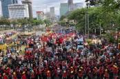 Unjuk Rasa Ribuan Buruh Tolak UU Ciptaker Berjalan Lancar dan Damai