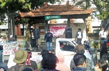 Aksi Penolakan UU Cipta Kerja di Bali Berjalan Damai