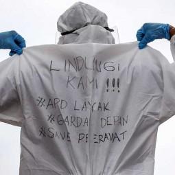 Pekerja Ambulans Gawat Darurat Dinas Kesehatan DKI Jakarta Gelar Aksi Unjuk Rasa