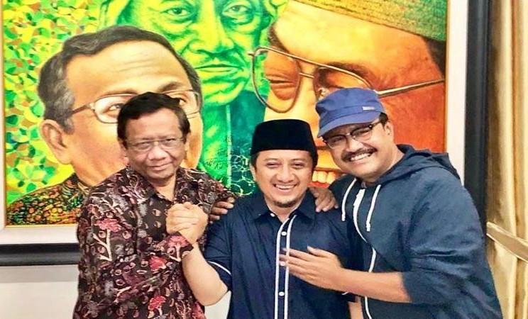 Mahfud MD, Ustaz Yusuf Mansur dan Saifullah Yusuf (Gus Ipul) bertemu pada Senin malam (15/4/2019) di kantor MMD Initiative, Jakarta. - Istimewa
