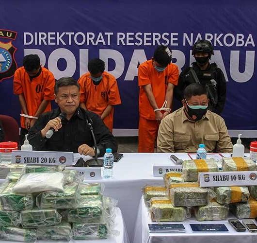 Ditresnarkoba Polda Riau Amankan Perwira Polisi Yang Mengedarkan Sabu