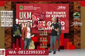 Ganjar Jualan Jersey Batik di UKM Virtual Expo