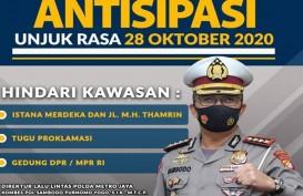 BEM SI Demo Tolak UU Cipta Kerja, Simak Rute Pengalihan Arus Lalu Lintas di Jakarta