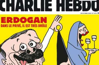Inilah Karikatur Presiden Erdogan di Majalah Charlie Hebdo yang Bikin Hubungan Turki-Prancis Panas