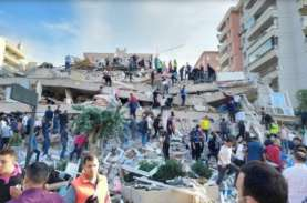 Luluh Lantak, Ini Foto-Foto Gempa Turki Berkekuatan…
