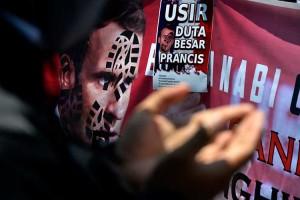 Aksi Damai Kecam Presiden Prancis Digelar di Makassar