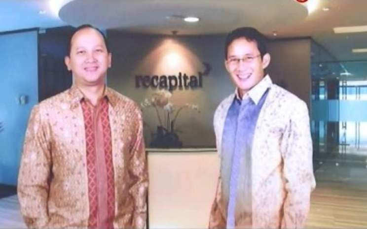 Rosan P Roeslani (kiri) dan Sandiaga Uno (kanan) sebagai pemilik usaha Recapital Group. - Youtube