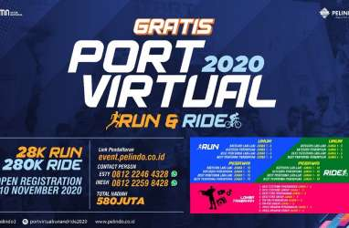 Dorong Gerakan Hidup Sehat Saat Pandemi  Pelindo 3 Gelar Port Virtual Run and Ride 2020