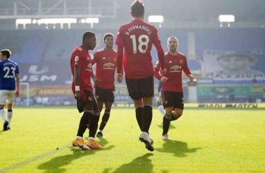 Hasil Liga Inggris, Manchester United Hajar Everton di Liverpool