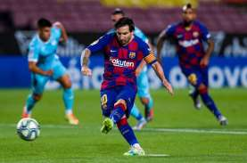 Hasil Liga Spanyol : Messi Cetak 2 Gol, Barcelona…