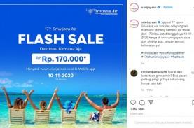 Promo Tiket Sriwijaya Air Rp170.000, Ini Daftar Rute…