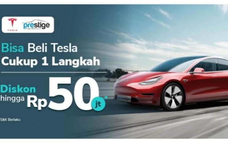 Ilustrasi promosi Tesla di Tokopedia. - istimewa