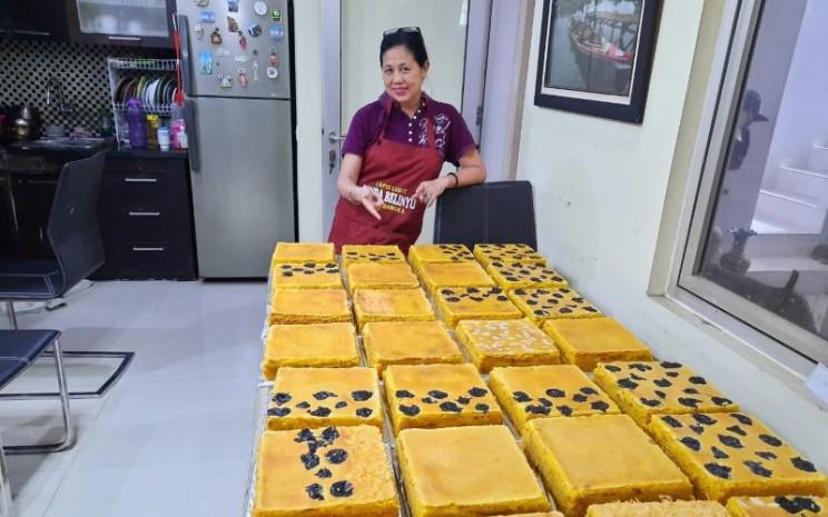 Lapis Legit Linda Belinyu mampu menjual sekitar 200 hingga 250 loyang per bulan. - istimewa