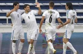 Cetak Gol untuk Uruguay, Luis Suarez & Edinson Cavani Buat Sejarah