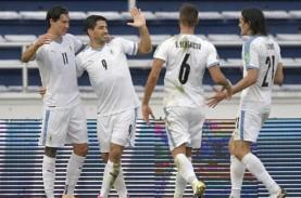 Cetak Gol untuk Uruguay, Luis Suarez & Edinson Cavani…