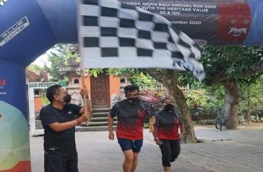 Denpasar Bali Menggelar Kegiatan Berlari Secara Virtual