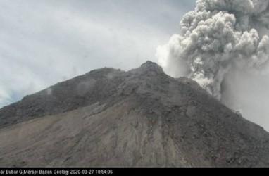 Gunung Merapi Berulangkali  Keluarkan Suara Guguran