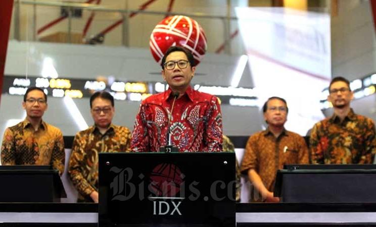 Direktur PT Bursa Efek Indonesia I Gede Wayan Yetna menyampaikan sambutan pada peluncuran Reksa Dana Indeks Premier ETF MSCI Indonesia Large Cap (XIML) di Jakarta,Rabu (4/3/2020). Bisnis - Dedi Gunawan