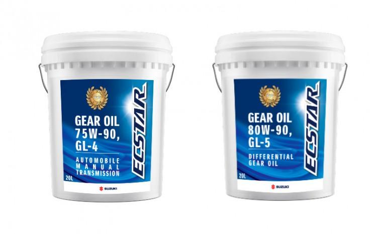 Kedua tipe gear oil ECSTAR ini tersedia dalam ukuran 20 liter dan 208 liter.  - Suzuki Indomobil