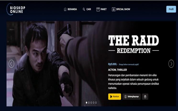Situs Bioskoponline.com menawarkan sensasi menonton film secara online di rumah dengan harga murah.  -  Sumber: tangkapan layar bioskoponline.com