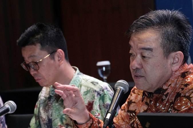 Presiden Direktur PT Central Proteina Prima Tbk Irwan Tirtariyadi (kanan) didampingi Wakil Presiden Direktur Saleh memberikan keterangan pada saat paparan publik, di Jakarta, Senin (24/6/2019). - Bisnis/Himawan L Nugraha