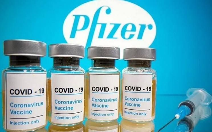Vaksin Covid-19 buatan Pfizer. - Antara/Reuters