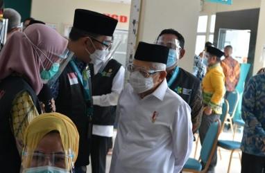 Wakil Presiden Ma'ruf Amin Tinjau Simulasi Vaksinasi Covid-19