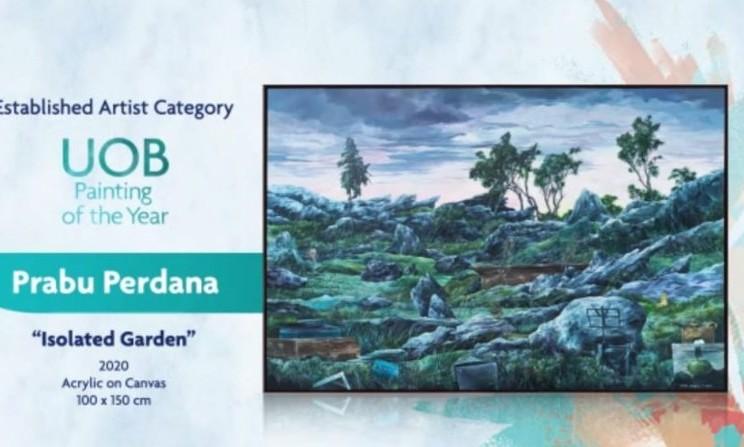 Karya pemenang dari UOB Painting of the Year. - tangkapan layar