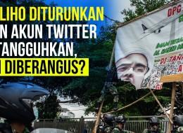Baliho Diturunkan dan Akun Twitter Ditangguhkan, FPI Diberangus?