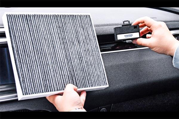 Sistem pemurnian udara cerdas.  - Hyundai.