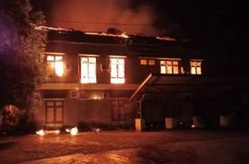 Kebakaran Lalap Kantor Dispenda Kabupaten Jayapura,…