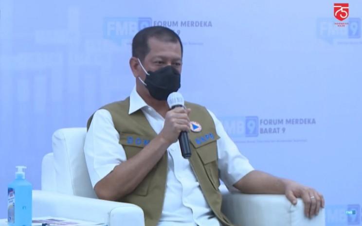 "Ketua Satuan Tugas Penanganan Covid-19 Doni Monardo dalam diskusi virtual yang bertajuk ""Kesehatan Pulih, Ekonomi Bangkit"" di Jakarta, Sabtu (15/8/2020). - Kominfo"