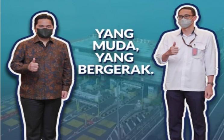 Menteri BUMN Erick Thohir dan Direktur PT Jasa Marga Bali Tol, I Ketut Adiputra Karang.  - Instagram Erick Thohir.