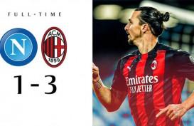 Hasil Liga Italia : Ibrahimovic Cetak 2 Gol, Milan Hajar Napoli